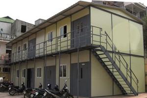 Nhà điều hành công trường 2 tầng Tôn xốp
