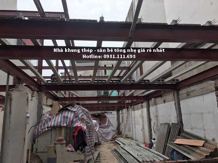 Thi công nhà khung thép tiền chế tại Tràn Duy Hưng - Hà Nội
